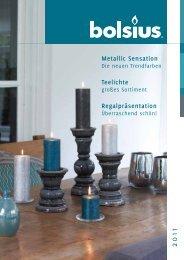 Metallic Sensation Teelichte Regalpräsentation - Candle-Company