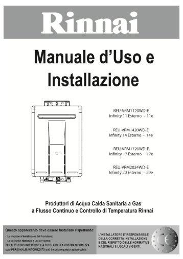Manuale d'uso e installazione - Rinnai