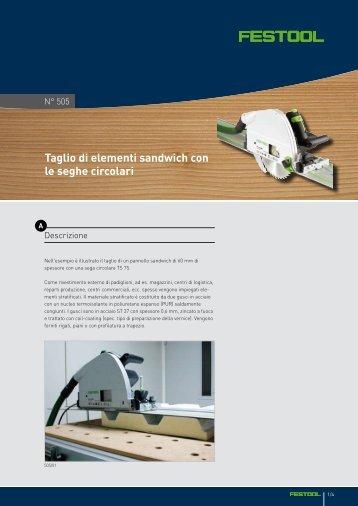 Taglio di elementi sandwich con le seghe circolari - Festool