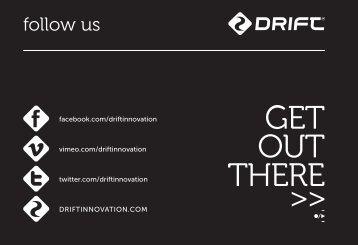 follow us - Drift Innovation