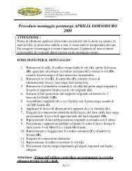Procedura montaggio portatarga APRILIA DORSODURO 2008
