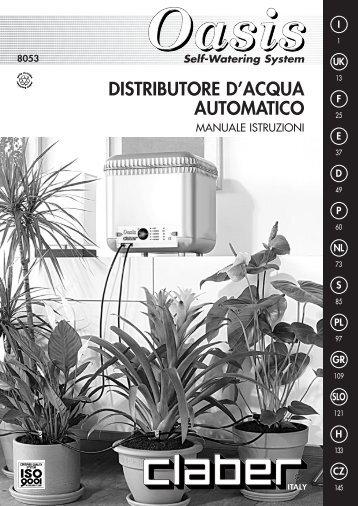 Distributore per piante CLABER modello Oasis - Irrigarden