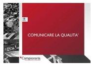 COMUNICARE LA QUALITA' - Felice Limosani