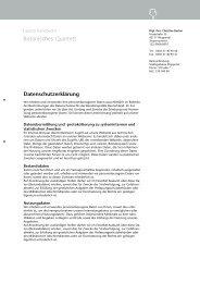 Datenschutzerklärung - burlon design