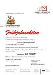 Faxnummer 0431 - 23706 17 - bei Schneider Direktmarketing