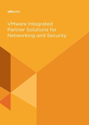 VMware Integrated Partner Solutions for Networking and Security