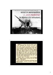 errori in aeronautica (…e in medicina) la storia e le soluzioni