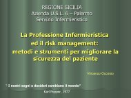 La comunicazione dell'errore - Azienda Sanitaria Provinciale di ...