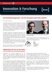 Innovation & Forschung - buw Holding Gmbh