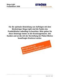 Plakatdruck: Mega-Lights / City-Light-Boards - CAW Media Gmbh