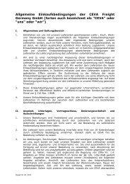 Allgemeine Einkaufsbedingungen CEVA Freight ... - CEVA Logistics