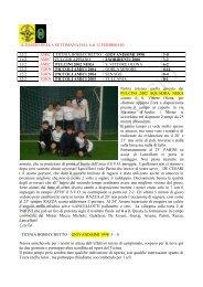 diario della settimana dal 6/2 al 12 - SS Martiri - Polisportiva Calcio