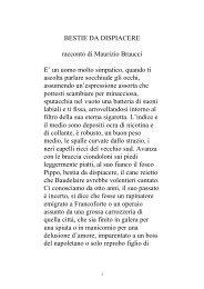 BESTIE DA DISPIACERE racconto di Maurizio ... - Exclusion.net