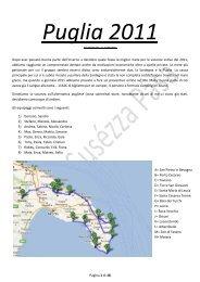 Leggi il diario di bordo della vacanza in Puglia - Susezza Pasa