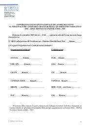 CCNL - Comparto Ministeri 2006-2009 - Centro servizi ...
