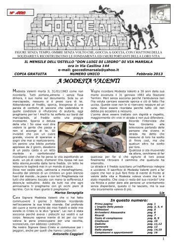 File unico febbraio 2013 gocce mail - Caritas Roma