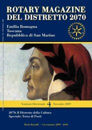 Rotary Magazine novembre 2009 - Rotary International - Distretto ...