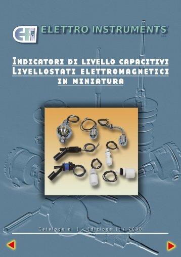 Indicatori di livello capacitivi Livellostati ... - comer-italia.com