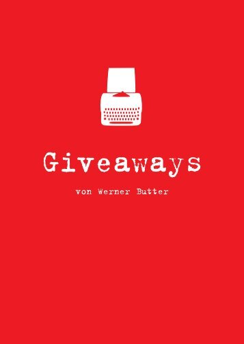 Werners Giveaways - Butter