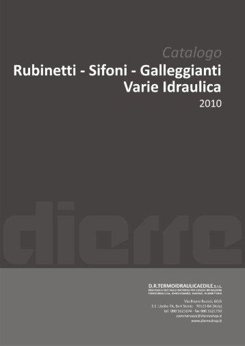 rubinetti - sofioni - galleggianti - varie idraulica - dierre shop