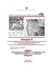 Allegato E - Autorità di Bacino del fiume Tevere