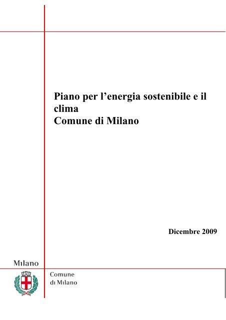 Piano per l'energia sostenibile e il clima Comune di Milano