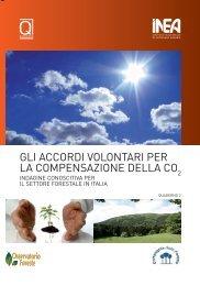 Gli accordi volontari per la compensazione della CO2 - Inea