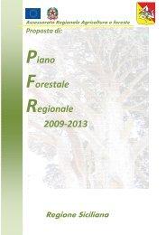 Piano Forestale Regionale 2009-2013 - Regione Siciliana