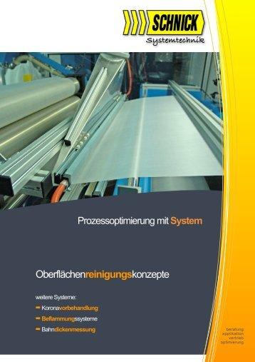 Oberflächenreinigungskonzepte - Schnick Industrieberatung bietet