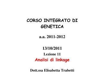 lezione 11 Linkage 13/10/2011