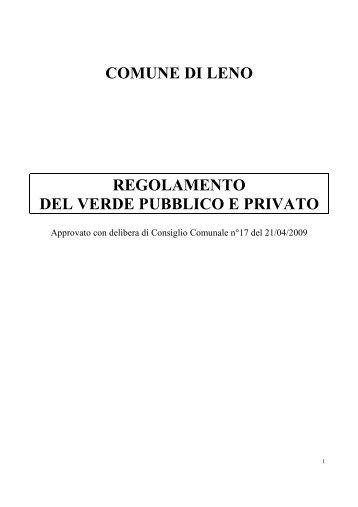 verde pubblico e privato - Comune di Leno