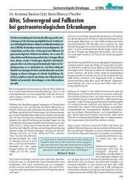 Alter, Schweregrad und Fallkosten bei gastroenterologischen ...