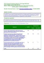 Analisi chimiche, fisiche e sensoriali degli alimenti - Università degli ...