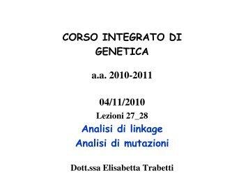 lezione 27-28 linkage analisi 04/11/2010