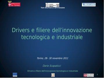 Drivers e filiere dell'innovazione tecnologica e industriale