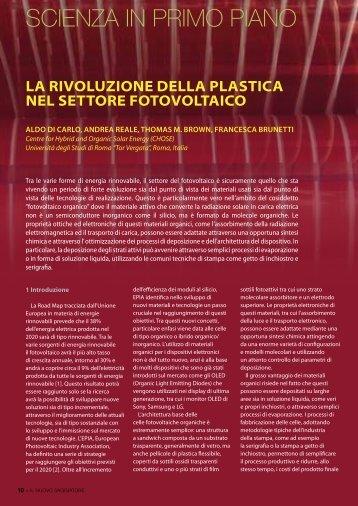 La rivoluzione della plastica nel settore fotovoltaico - Società Italiana ...