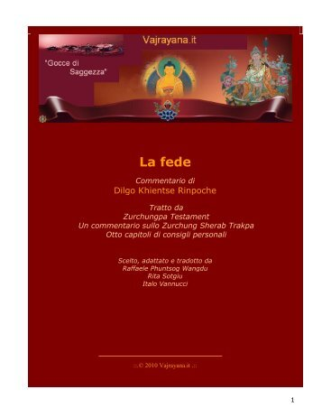 La fede - Vajrayana.it