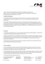 Download der AGB als Pdf-Dokument - CDS Communication ...