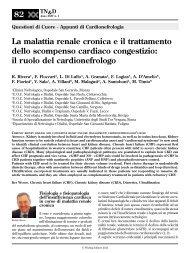 La malattia renale cronica e il trattamento dello scompenso cardiaco ...