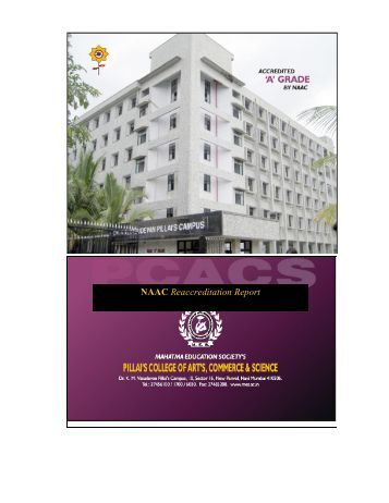 NAAC Reaccreditation Report - Pillai College of Arts, Commerce ...