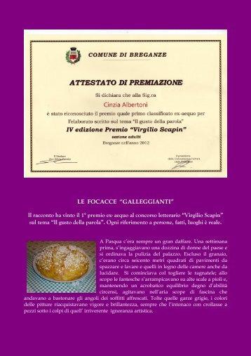 Premio concorso letterario - Cinzia Albertoni