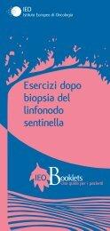 Esercizi dopo la biopsia del linfonodo sentinella - Istituto Europeo di ...