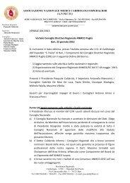 Verbale Consiglio Direttivo - Anmco