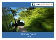 2010 Cie informe de resultados 31 diciembre v6 ... - Cie Automotive