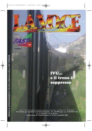 La Voce delle Attività ferroviarie Maggio - Giugno - FAST-FerroVie