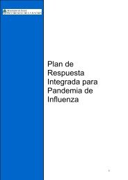 Plan de Respuesta Integrada para Pandemia de Influenza