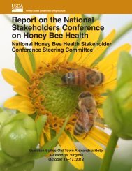 Report on the National Stakeholders Conference on Honey Bee Health