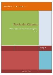 Storia del Cinema dalle origini alle nuove ... - Ripamonti, Como