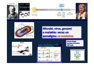 uomini, microrganismi e virus Relazione interattiva Ernesto Burgio