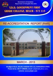 Re-Accreditation Report - YDD Govt. First Grade College
